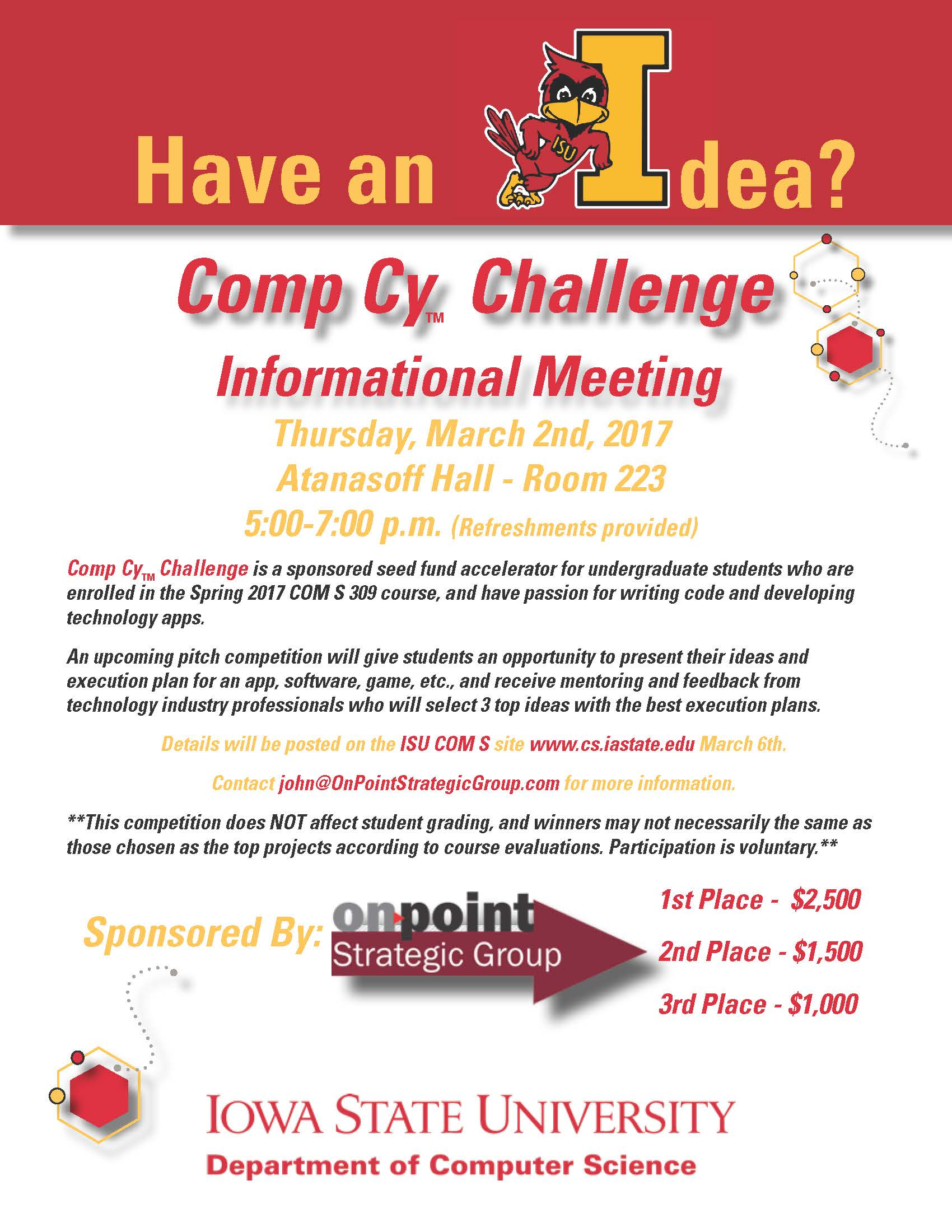 Comp Cy Challenge Informational Meeting Thursday, March 2nd, 2017