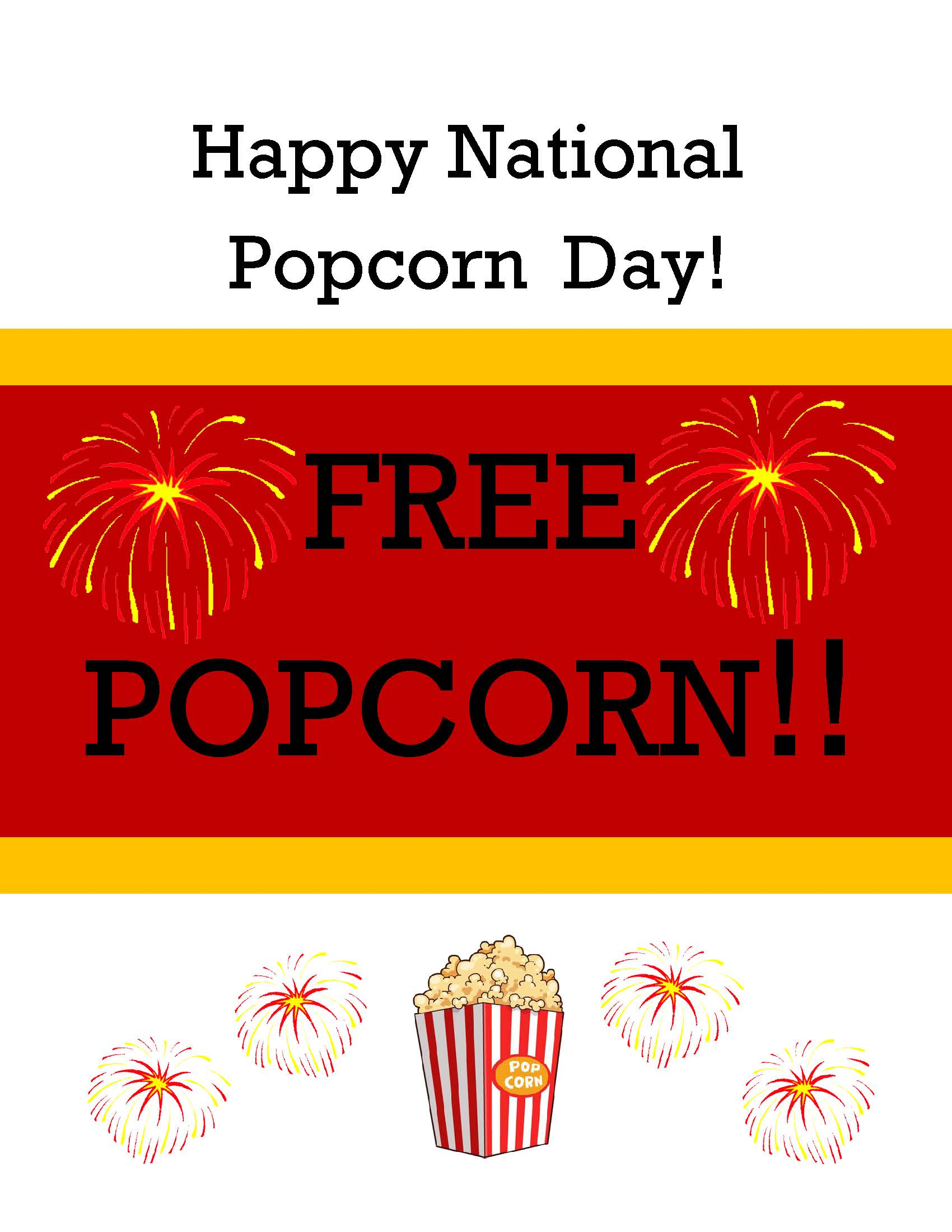 Free Popcorn Banner
