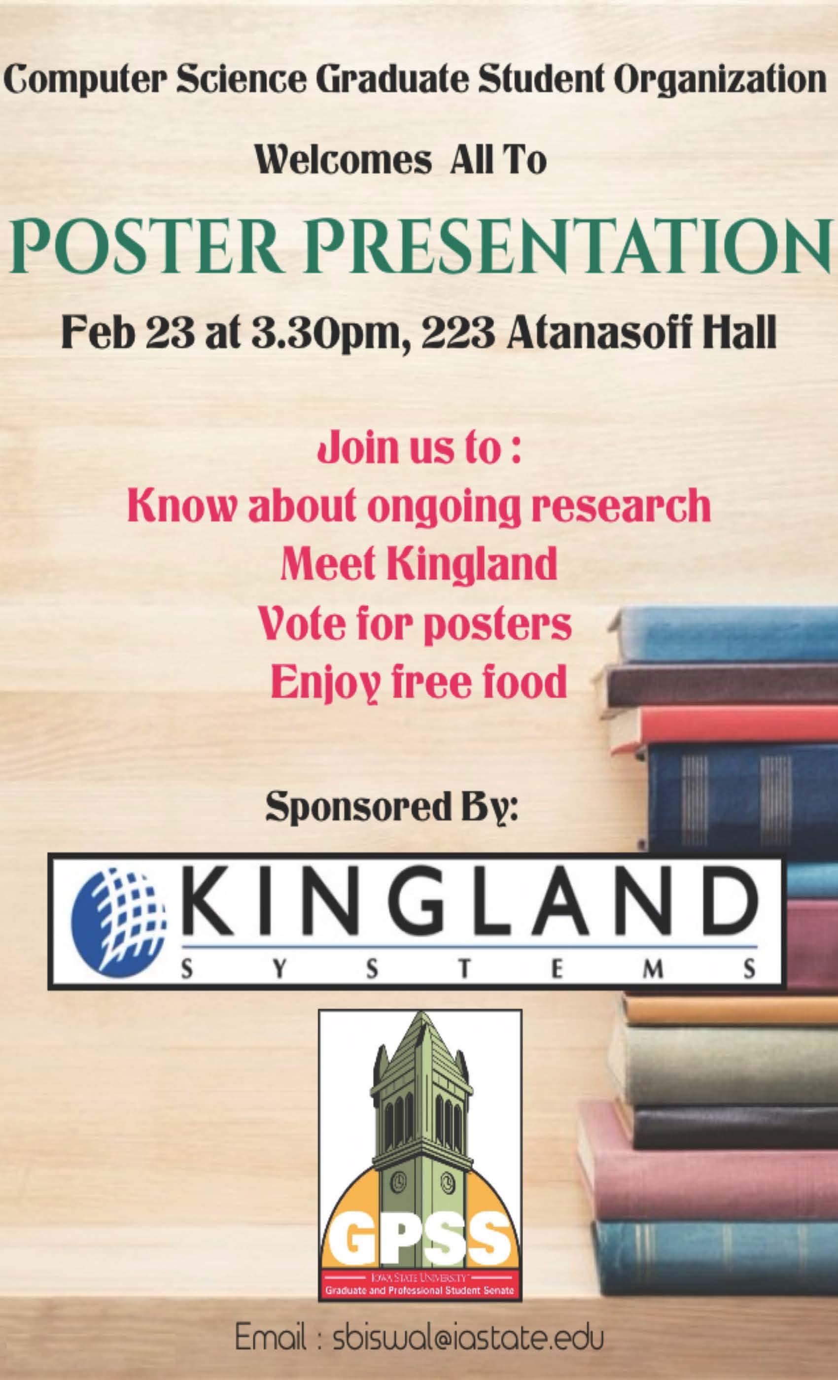 Poster Presentation Flyer February 23rd