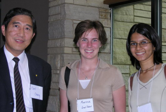 Dr. Chang and two new Graduate Students