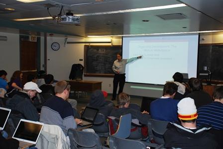 Photo of Dr. Weiss teaching Software Development