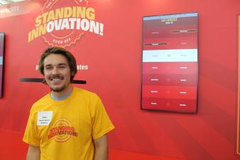 Dillon Jensen at the ISU Standing Innovation pitch competition