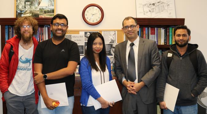 Winning graduate students pictured