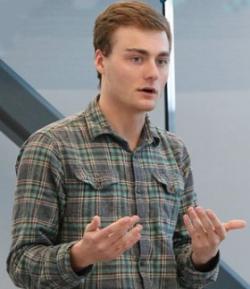 Maxwell Smith presenting