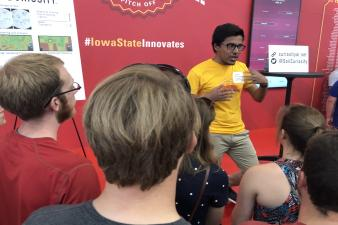 Rangeet Pan at the ISU Standing Innovation pitch competition