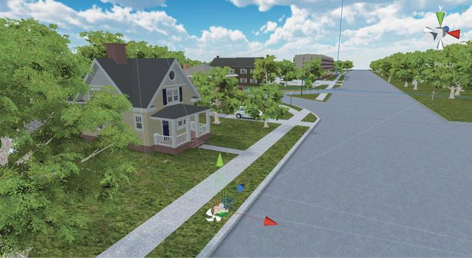 3D replica of a real neighborhood near ISU's campus