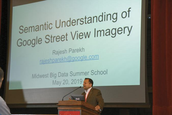 Rajesh Parekh, Google's Engineering Director address a packed room