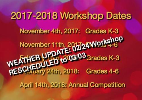 2017-18 K-12 Computer Science Outreach Workshop Dates