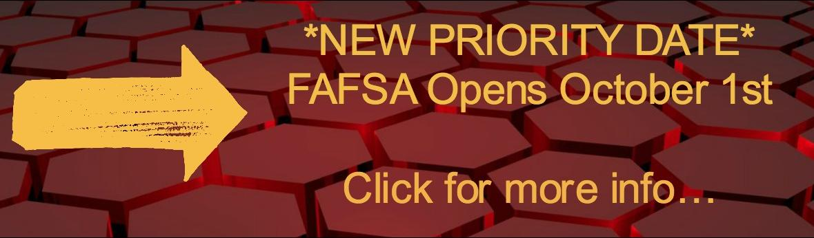 NEW FAFSA PRIORITY DATE