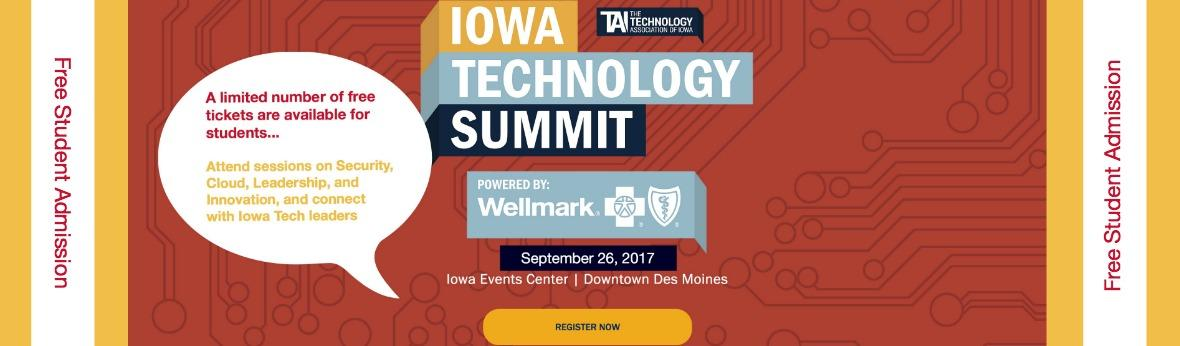 Wellmark and TAI Sponsor Student Registrations at Iowa Tech Summit